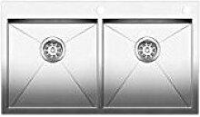 Blanco–Spülbecken mit zwei Becken 1413703Finish Edelstahl-88.5x 51cm