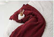 Blanket Baumwollgewebte Drahtdecke, einfarbig