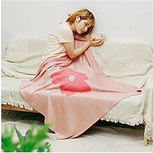 Blanket Gestrickte Wolldecke, Rosa Klimatisierte
