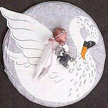 Blanketswarm Baby-Teppich, weich, rund, für