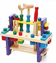 Blanketswarm Mini-Werkbank, Holz-Spielzeug-Set,