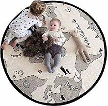 Blanketswarm Spielmatte mit Weltkarte, dünnes
