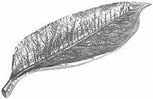 Blatt Schale Dekofigur Silber Deko Herbst