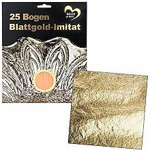 Blattgold-Imitat, 15cm x 15cm, 25 Bogen |