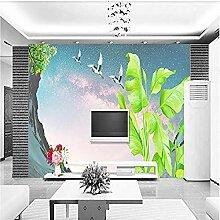Blattkran Fresko für Wände Wandbilder Tapete