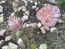 Blattstecker Blätter Rost Deko Stecker Gartendeko Edelrost Beetstecker