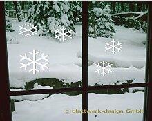 blattwerk-design Schneeflocken Glasdekorfolie M061 Grün