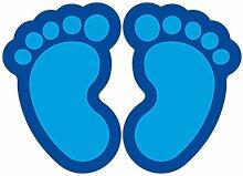 (Blau) 10 Stück Fußbodenaufkleber Kinderfüße