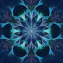 Blau Datura Blume Diamant Malerei 5D DIY Voll Bohren Pflanze Handwerk Harz Rhineston Paste Überqueren Stich Diamant Mosaik Aufkleber Leinwand Für Büro Mauer Dekoration , 30*30 cm