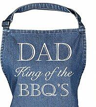 Blau Denim Schürze Dad King Of The Grill Schürze