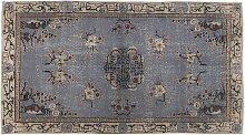 Blau Eingefärbter Türkischer Teppich