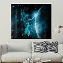 Blau Engel Berühren Leichte Wandteppich Dekorativ
