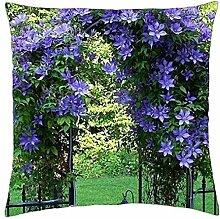 Blau Gartenlaube–Überwurf Kissenbezug Fall (45,7x 45,7cm)