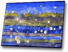 Blau, Gelb, Lila modernes abstraktes Aquarell