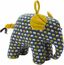 Blau, Gelb und Weiß gedruckt Elephant Türstopper