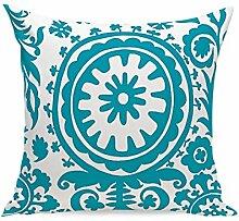 Blau Geometrisch Einfach Kissenbezüge Leinen Auto Sofa Büro Wohnzimmer Haus Dekoration Kissen (Kissenbezüge Set Mit 2 Stück),12