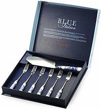 Blau Italienisches 25/15cm Porzellan und