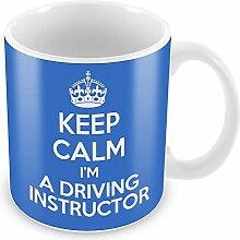 Blau Keep Calm I 'm a Fahrlehrer Becher Kaffee Tasse Geschenkidee Geschenk Jo...