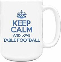 Blau Keep Calm und Love Tisch Fußball Big Kaffeebecher TXT 1415