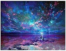 Blau Night Sky 5d Diamant Painting sunnymi DIY Stickerei Malerei Kreuzstich Kunstharz Dekoration (Blau)