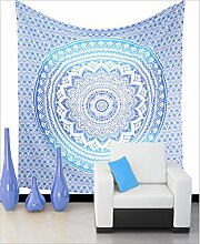 Blau Ombre Mandala Tapisserie Wand Kunst Hangings Hippie Wandteppiche Dorm Decor