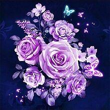Blau Rose Diamant Malerei 5D DIY Voll Blume Bohren