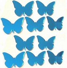 Blau Schmetterling Spiegel - 12cm x 8cm