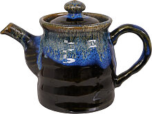 Blau / Schwarz Handgemachte Teekanne mit