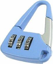 Blau Silber Ton Metall Handtasche Design Password Lock 3Digitsfor Koffer Schublade