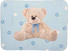Blau Teddy leicht matte 70x 95cm Soft Kinderzimmer-Teppich