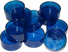 Blau Teelicht Werkzeuge. Polycarbonat Plus TL15vorgewachste Dochte. Für herstellen von Teelichtern, blau, 50