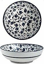Blau und weiß Porzellan-Keramik-Schüssel Ramen