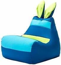 Blau Wasserfest Kinder Floppy Ohren Hase Sitzsack Sessel, Großartig für Für drinnen und Außen