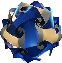 Blau weiss Deco Lampe 45cm