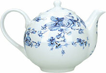 Blau-weiße Rosen-Teekanne zum Kombigeschirr
