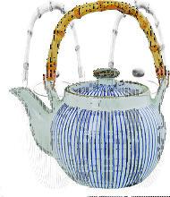 Blau / Weiße Teekanne - Sendan Tokusa - 19,5 x