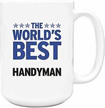 Blau Worlds Best Heimwerker Big 444ml Becher 154