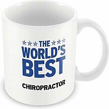 Blau Worlds Best Persönlicher Chiropraktiker Becher 068