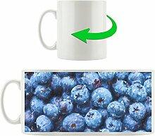 Blaubeeren mit Wassertropfen Kunst Pinsel Effekt,