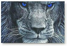 Blaue Augen Löwenkopf Home Bad Bad Dusche