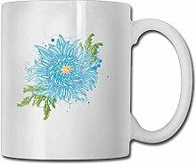 Blaue Chrysantheme-Kaffeetassen 11