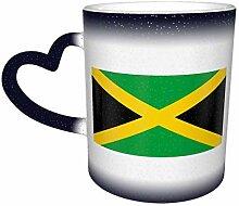 Blaue Flagge von Jamaika Farbwechsel Sternenhimmel