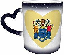 Blaue Flagge von New Jersey Herz Farbe ändern