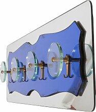 Blaue Glas Garderobe, 1970er