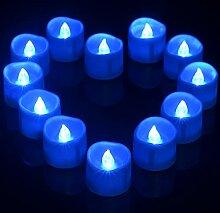 Blaue LED Timer Teelichter, Ymenow 12 Stück