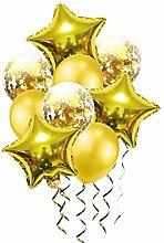 Blaue Luftballons Deko Geburtstag Stern