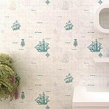 Blaue Mittelmeer Segelschiff Kinderzimmer
