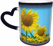 Blaue Sonnenblume Blume Meer Blumen der Hoffnung