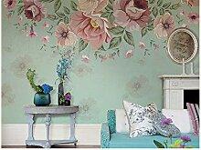 Blaue süße Blume Tapete Fototapete Startseite