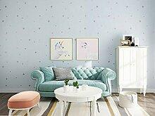 Blaue Tapete Schlafzimmer warme einfarbige Tapete